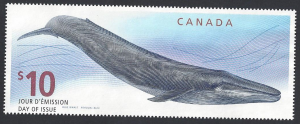 Canada #2405 used single, whale, issued 2010