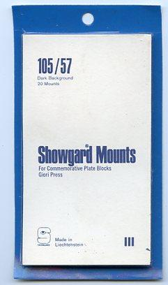 SHOWGARD DARK BACKGROUND MOUNTS 105/57 PACKAGE 20 STRIPS