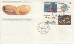 1978 Canada Inuit Artists Works   (Scott 769-72) FDC