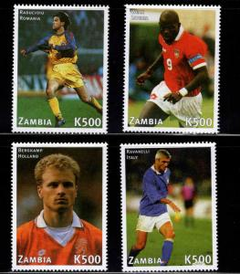Zambia Scott 731e-h MNH** 1998 World Cup Soccer Champion