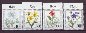 J20752 Jlstamps 1980 berlin germany set mnh #9nb171-4 flowers