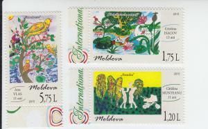 2015 Moldova Children's Day (3) (Scott 863-65) MNH