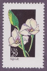 2667 Wildflowers - Sego Lily F-VF MNH single