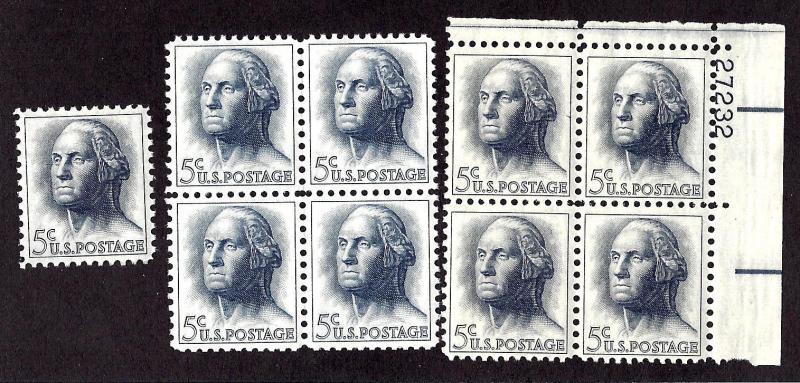 1213 Mint,OG,NH... Single, Block, and Plate Block of 4... SCV $2.25