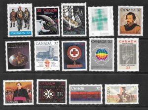 Canada Mint NH Lot of 21 Different 32 cents Stamps  Face Value $6.72