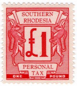 (I.B) Southern Rhodesia Revenue : Personal Tax £1