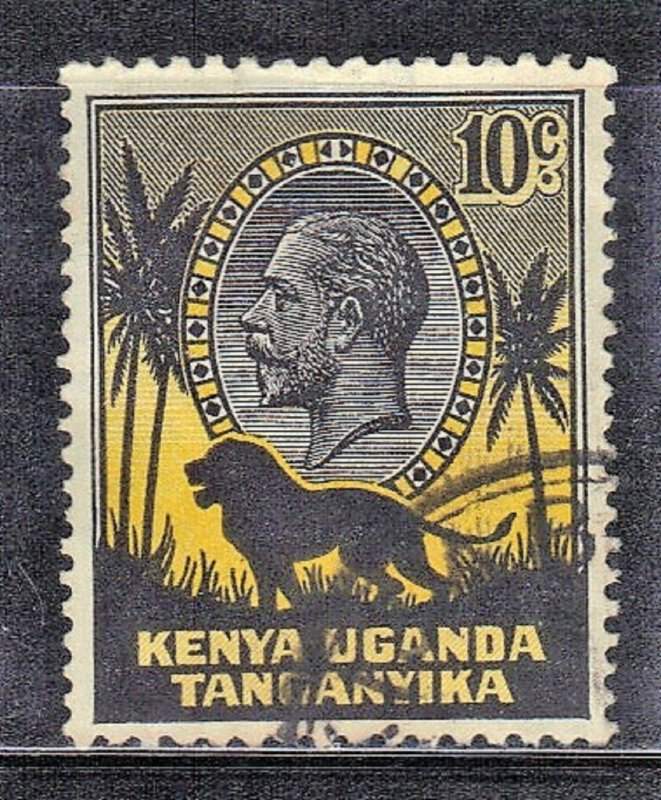 KUT SC# 48 USED 10c 1935  LION  SEE SCAN