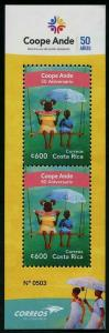HERRICKSTAMP NEW ISSUES COSTA RICA Sc.# 674 Coope Ande S/S