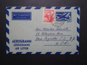 Austria 1960 Uprated 3.60 Aerogramme to USA - Z12093