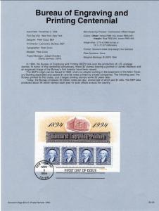US SP1083 Bureau of Engraving 2875 Souvenir Page FDC