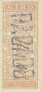 DEPENDENCIAS ESPAÑOLAS - 1868 Sello Fiscal (GIRO) 2 Escudos - usado