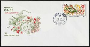 Palau 142a on FDC Flowers