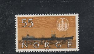 Norway  Scott#  385  MNH  (1960 Freighter)