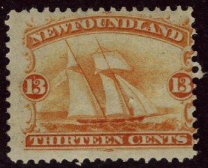 New Foundland Sc #30 Mint Fine SCV$225....Newfoundland is on many bucket lists!