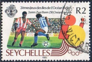Seychelles 1985 2r Football (2nd Indian Ocean Islands Games) used