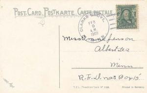 United States Minnesota Clarks Grove 1909 doane 2/2  PC.