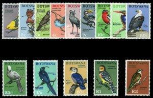 Botswana 1967 QEII Birds set complete superb MNH. SG 220-233. Sc 19-32.