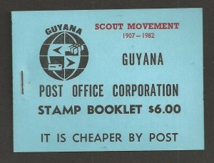 1982 Guyana Boy Scouts Caribbean Jamboree ovpt 'Postage' blue booklet
