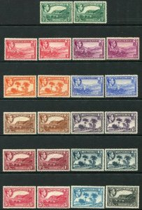MONSERRAT-1938-48 Set to £1 Incl all Perf Varieties with toned gum Sg 101-112 MM