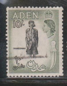 ADEN Scott # 60 Used - Queen Elizabeth II & Tribesman