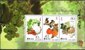 North Korea. 1993. 3445-50 2KLB. Vegetables and fruits. MNH.