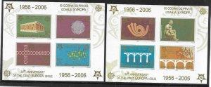 2005   SERBIA & MONTENEGRO  -  SG.  MS 140A/B  -  EUROPA STAMPS  -  MNH