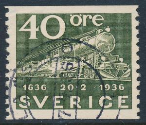 Sweden Scott 258 (Fa 253), 40ö olive Post Office, F-VF Used