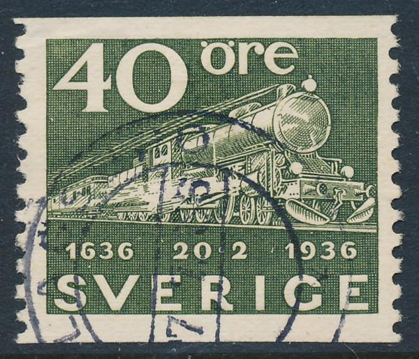Sweden Scott 258 (Fa 253), 40ö olive Post Office, F-VF Used
