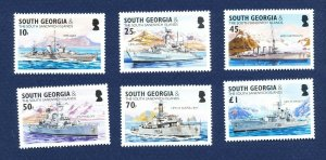 SOUTH GEORGIA - # 297-302; SG 380/5 - MNH -  Royal Navy Ships - 2004