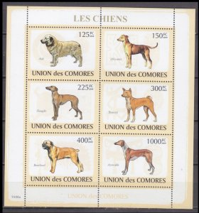 2009 Comoro Islands 2135-40KL Dogs 10,00 €