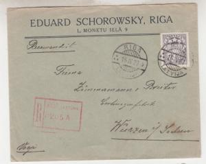 LATVIA, 1927 Registered cover, 50s., Riga to Germany.