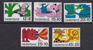 Netherlands  #B439-B443    MNH 1968  child welfare