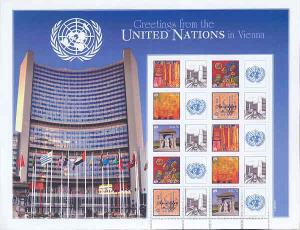 UNITED NATIONS GREETING FROM VIENNA PERSONALIZED SHT 70