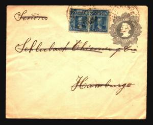 Chile 1908 Uprated Stationery Cover to Germany / Fold - Z14679