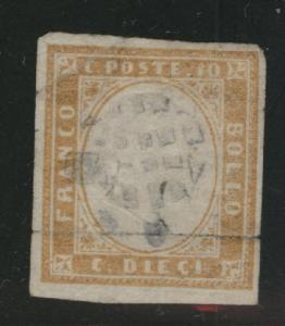 Sardinia Scott 11 Used 1862 bister King Victor Emanuel II