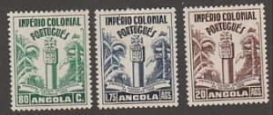 ANGOLA #292-4 MINT COMPLETE LIGHTLY HINGED