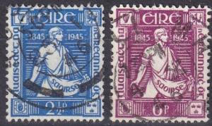 Ireland #131-2 F-VF Used  CV $9.00 (A19805)