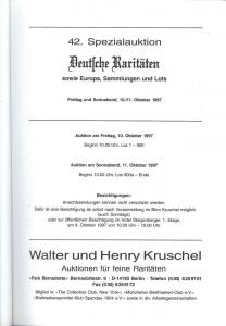 Kruschel: Sale # 42  -  Kruschel 42. Spezialauktion, Walt...