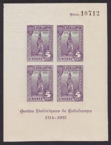 Spain Galvez 767 MNH. 1937 Vinebre Civil War Locals S/S