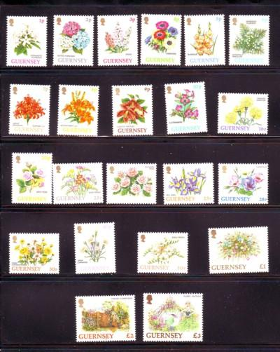 Guernsey Sc 476-97 1992 Flower stamps mint NH