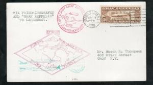 USA #C14 Very Fine Used On Zeppelin Card Europe Pan America Round Flight