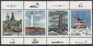 Finland Aland Islands #64-7 Mint set, Lighthouses Issued 1992
