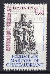 France  #1782  used  1981  martyrs of Chateaubriant complete