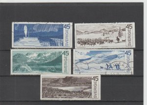 Sweden  Scott#  853-857  Used  (1970 Around the Arctic Circle)