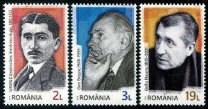 HERRICKSTAMP NEW ISSUES ROMANIA Sc.# 6149-51 Avant - Garde Writers