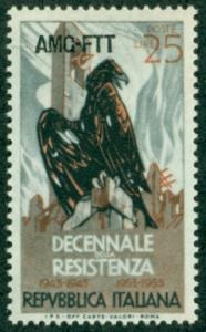 Trieste #200  Mint  F-VF NH  Scott $3.25  WWII Resistance...
