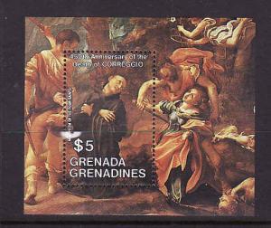 Grenada Grenadines-Sc#610-unused NH sheet-Correggio Painting