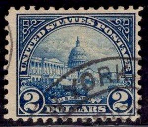US Stamp #572 $2 US Capitol USED SCV $9.00