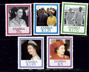 Zambia 343-47 MNH 1986 QEII 60th Birthday    (ap1077)