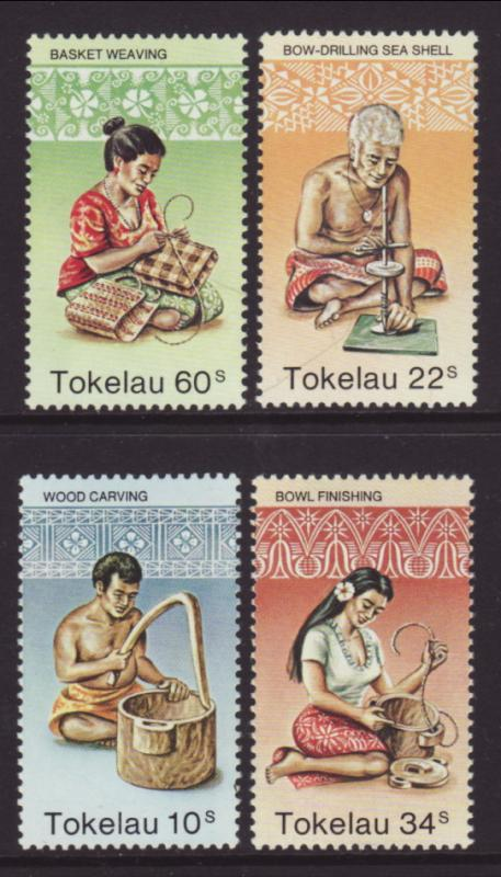 Tokelau 81-84 Hand Crafts MNH VF